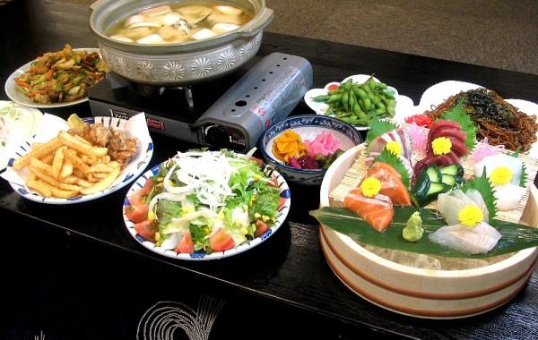 お食事 鍋宴会料理(例)