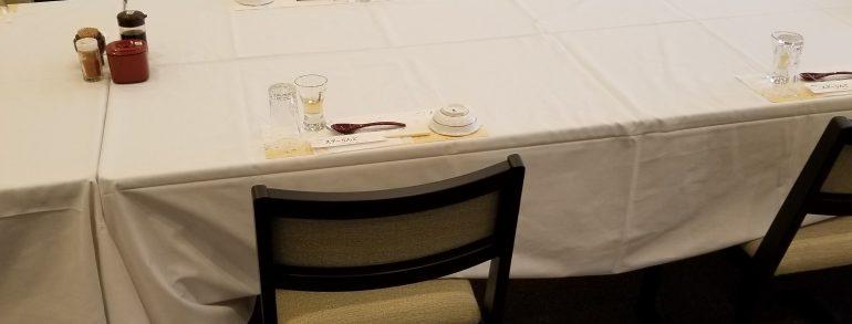 法事・慶事・ハレの日むけに宴会セッティング改善中です